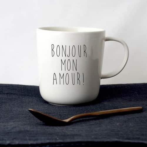 SOPHIE MASSON - mug bonjour mon amour