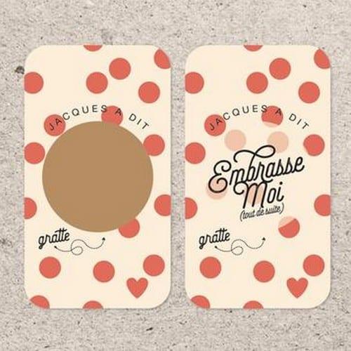 VINCIANE GRAPHIC - mini carte à gratter embrasse moi