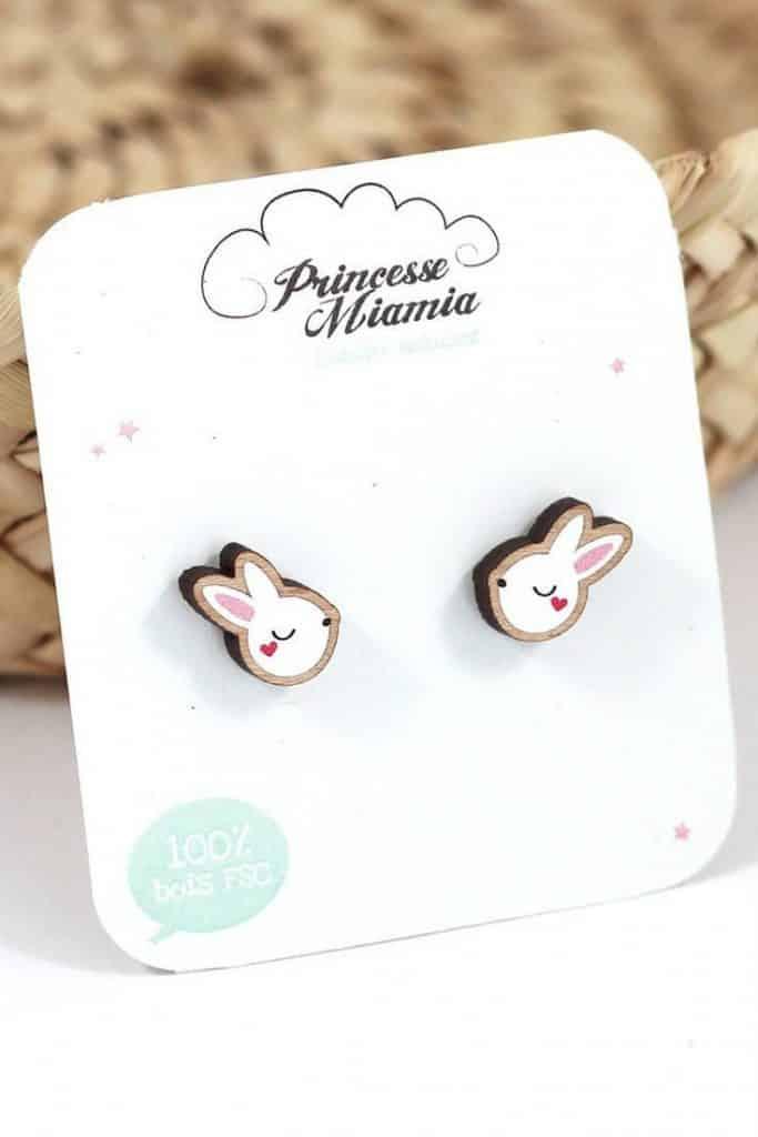 Boucle d'oreilles Lapin blanc 12€50 - PRINCESSE MIAMIA
