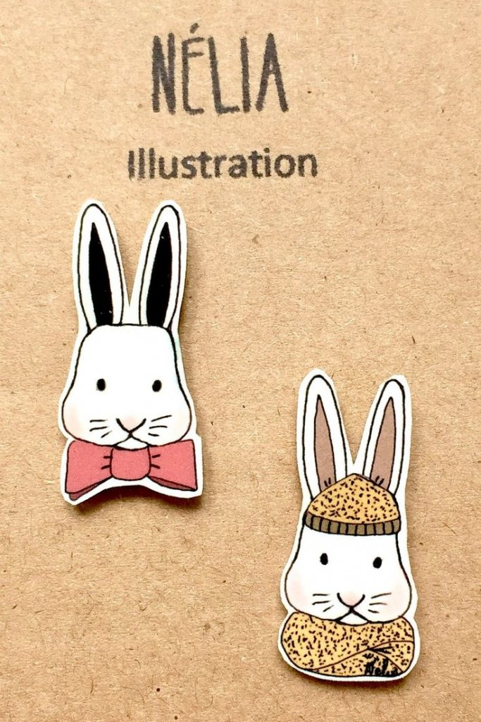 Lot de 2 pin's 15€ - NELIA ILLUSTRATION