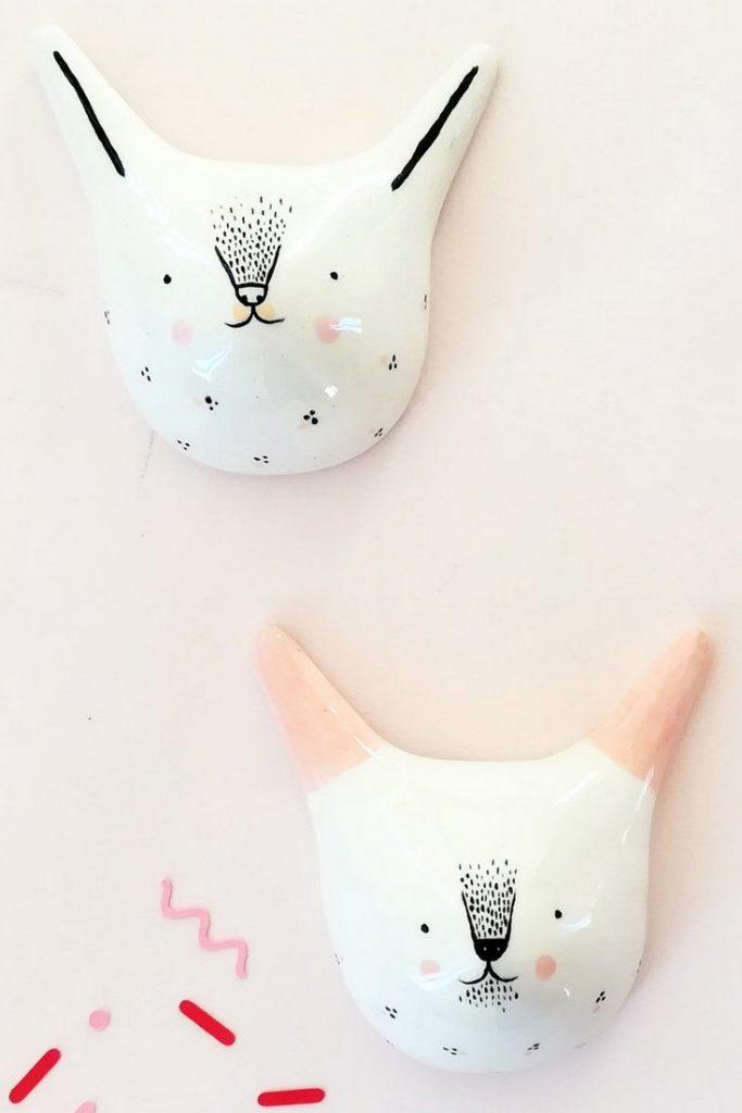 Trophée céramique lapin 25€ - PAMELA LOOPS