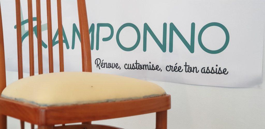 Dans l'atelier de Ramponno - Fixation de la mousse